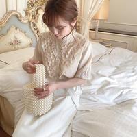 vintage frill blouse -FA387-