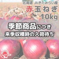 赤玉ねぎ 10kg【北海道 JAきたみらい産】