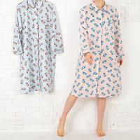クマのぬいぐるみ ロングスリーブシャツ ワンピース PJR130-03110