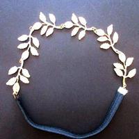 Gold Metal Leaf Hairband (U0029-e)