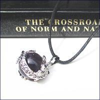 Dragon Wrap Natural  Amethyst Gemstone Necklace  (U0050-e)