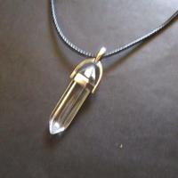 Natural  Quartz Crystal Gemstone Necklace  (U0010-e)