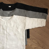 リネンのゆったりTシャツ  七分袖