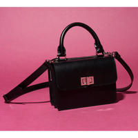 leather Handbag   ( BLACK )