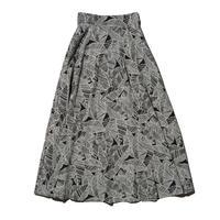 リーフプリントスカート
