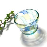 ガラス作家「竹乃」作品 猪口《初夏》