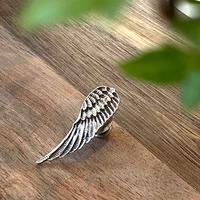 純銀製 シャープフェザー ピンバッチ