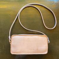 【Thin.T】Wファスナー(2層式)レザーショルダーバッグ/手縫い/一点もの