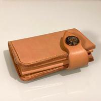 【Thin.T】ヌメ革二つ折り財布/手縫い/一点もの