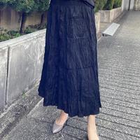 クシュ風波打ちスカート(黒)