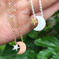 【ステンレス】月と星のネックレス