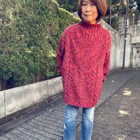 長めカラフルセーター(赤)
