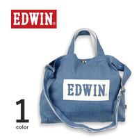 EDWIN  エドウイン 2WAY ボックスロゴ ライトデニム ショルダートートバッグ