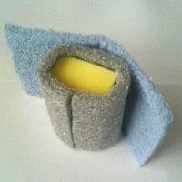 手拭き用アルミ・ナイロン不織布バフ <HNA>