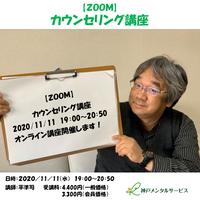 【一般価格】2020/11/11【ZOOM】カウンセリング講座(講師:平準司)