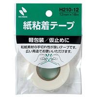ニチバン 紙粘着テープ  No.210 12mm幅 白