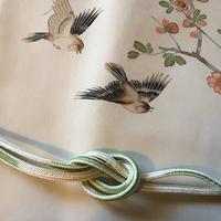 雀と木瓜の名古屋帯