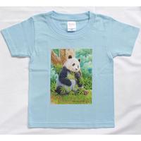 【期間限定】「山本二三氏×TANTAN 26th anniversaryコラボ 商品『肖像画デザインTシャツ(ライトブルー/こどもサイズ)』」