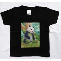 【期間限定】「山本二三氏×TANTAN 26th anniversaryコラボ 商品『 肖像画デザインTシャツ(黒/こどもサイズ)』」
