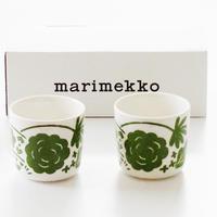 マリメッコmarimekko  オンニ 69654-160ラテマグ  グリーン2個セット(グリーン)【御結婚御祝・内祝・新築御祝・還暦御祝・御礼・寿・ギフト包装可能】