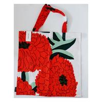 マリメッコmarimekko プリマヴェーラオレンジ トートバッグ44×43センチ70188-125