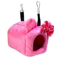 🎀耳付きハウス ピンク 水玉リボン🎀(Sサイズ)