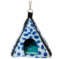 【ピラミッド型ハウス】ダルメシアン柄 [ブルー]