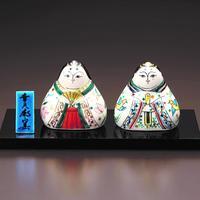 ペルシア色絵 雛人形 (立て札、塗板付)