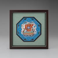 アラベスクタイル陶額「海遊」