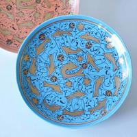 金彩魚文皿