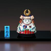 ペルシア色絵 五月人形(立て札、塗板付)