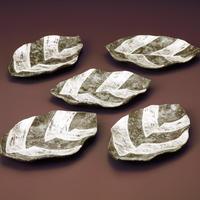 銀彩葉形皿 1客