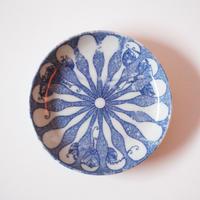 【季節のうつわ】印判瓢箪に桐文小皿(その1)11.6cm Inban Blue and White Small Dish with Gourds and Paulownia Design 20th C