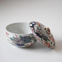 【季節のうつわ】古伊万里色絵紫陽花文蓋物 Imari Polychrome Covered Bowl with Hydrangeas Design 18th C