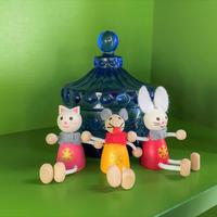 チェコ レスニー人形 猫 ネズミ うさぎ