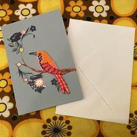 イギリス 刺繍ワッペン付き グリーティングカード