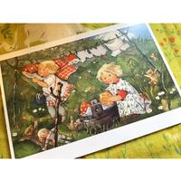 スイス製 『新鮮な風の中で』 ポストカード 洗濯