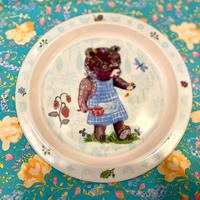 フランス ナタリーレテ 三匹のくま 絵皿 プレート  ブルー