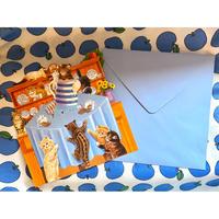 イギリス製 仕掛け 3D 立体 グリーティングカード 『いたずらこねこたち』 猫