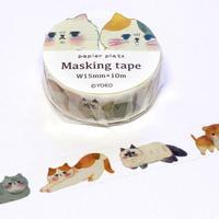 パピアプラッツ YOKO マスキングテープ 猫