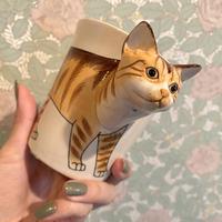 3D アニマルマグ オレンジタビー 猫 マグカップ