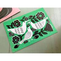 ROCCA ポストカード garden 小鳥たち