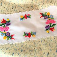 ハンガリー カロチャ刺繍 花敷物