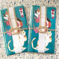 個性的 ご祝儀袋 キムラトモミ 猫 金封 三毛猫 トラ猫
