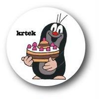チェコアニメ クルテク mini缶バッヂ『ケーキ』