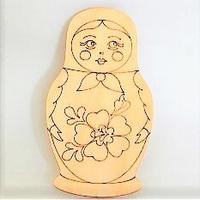 マトリョーシカ 木製 塗り絵 トールペイント