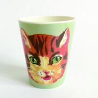 France ナタリーレテ オレンジ猫コップ