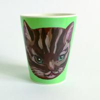 France ナタリーレテ 茶シマ猫コップ