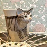 3D アニマルマグ タビー 猫 マグカップ