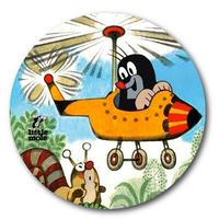 チェコアニメ クルテク BIG缶バッヂ『ヘリコプター』